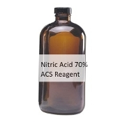Nitric Acid 70% ACS 500ML Amber Glass